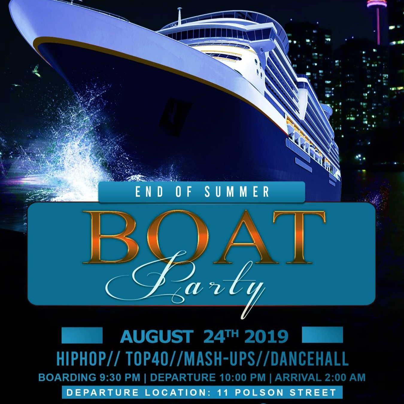 END OF SUMMER TORONTO BOAT PARTY