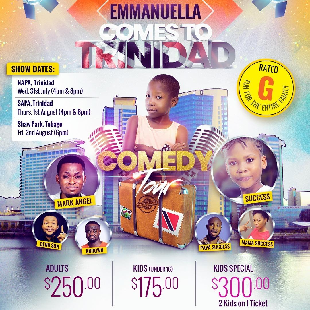 Comedy Tour | Emmanuella - Comes To Trinidad! 31st July 2019 4 pm
