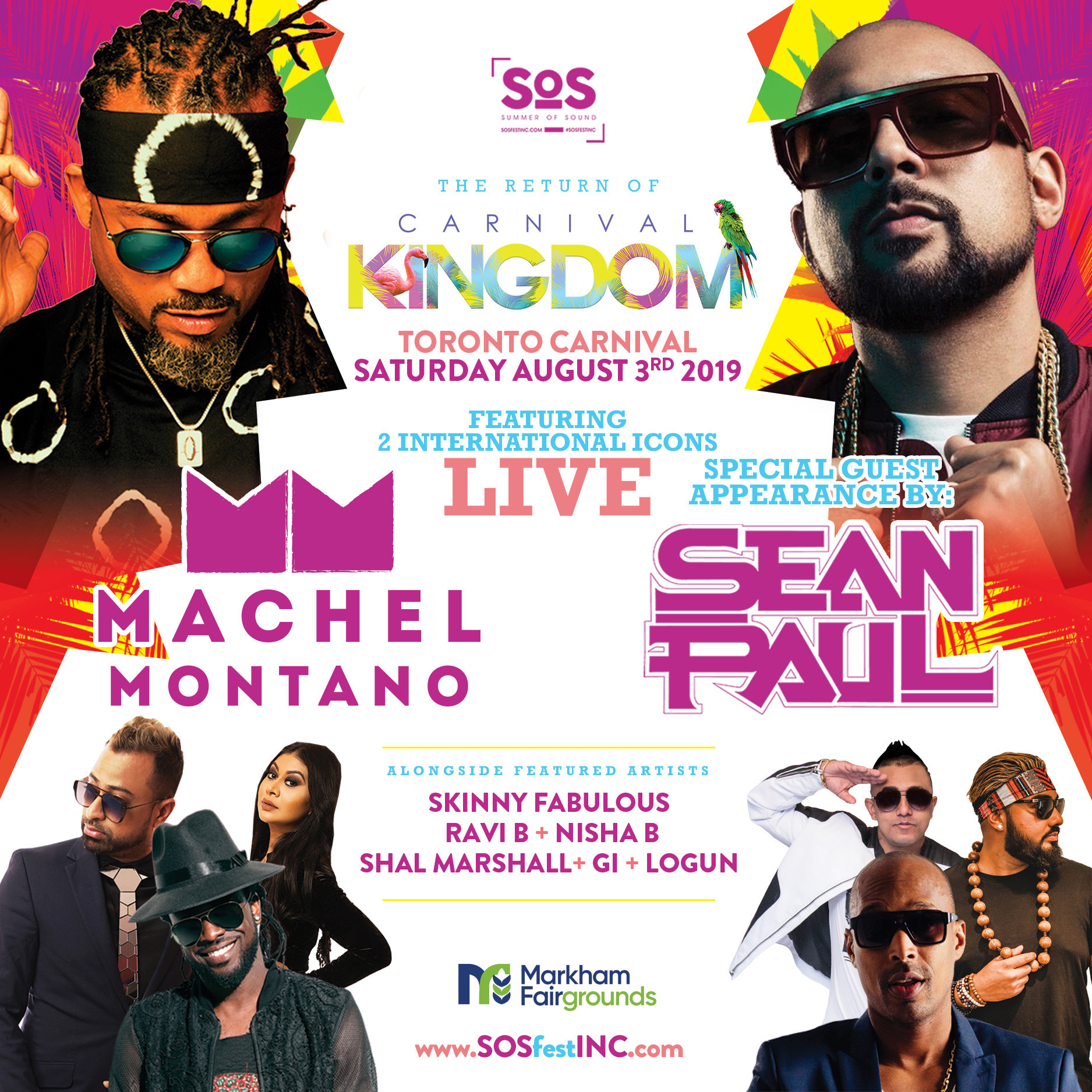CARNIVAL KINGDOM   SOS FEST   MACHEL MONTANO and SEAN PAUL with FRIENDS