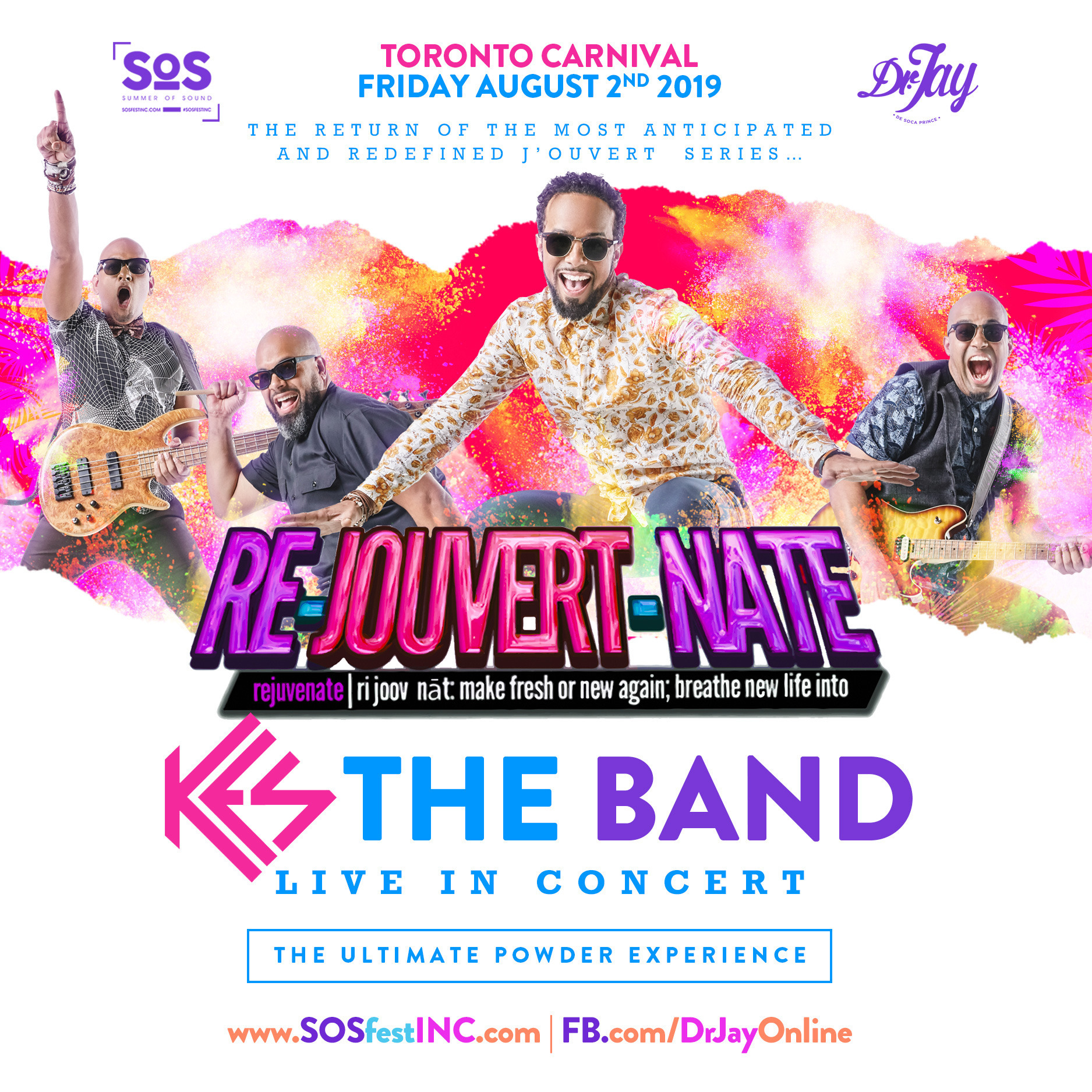 RE JOUVERT NATE   SOS FEST and Dr JAY   KES THE BAND Live in Concert