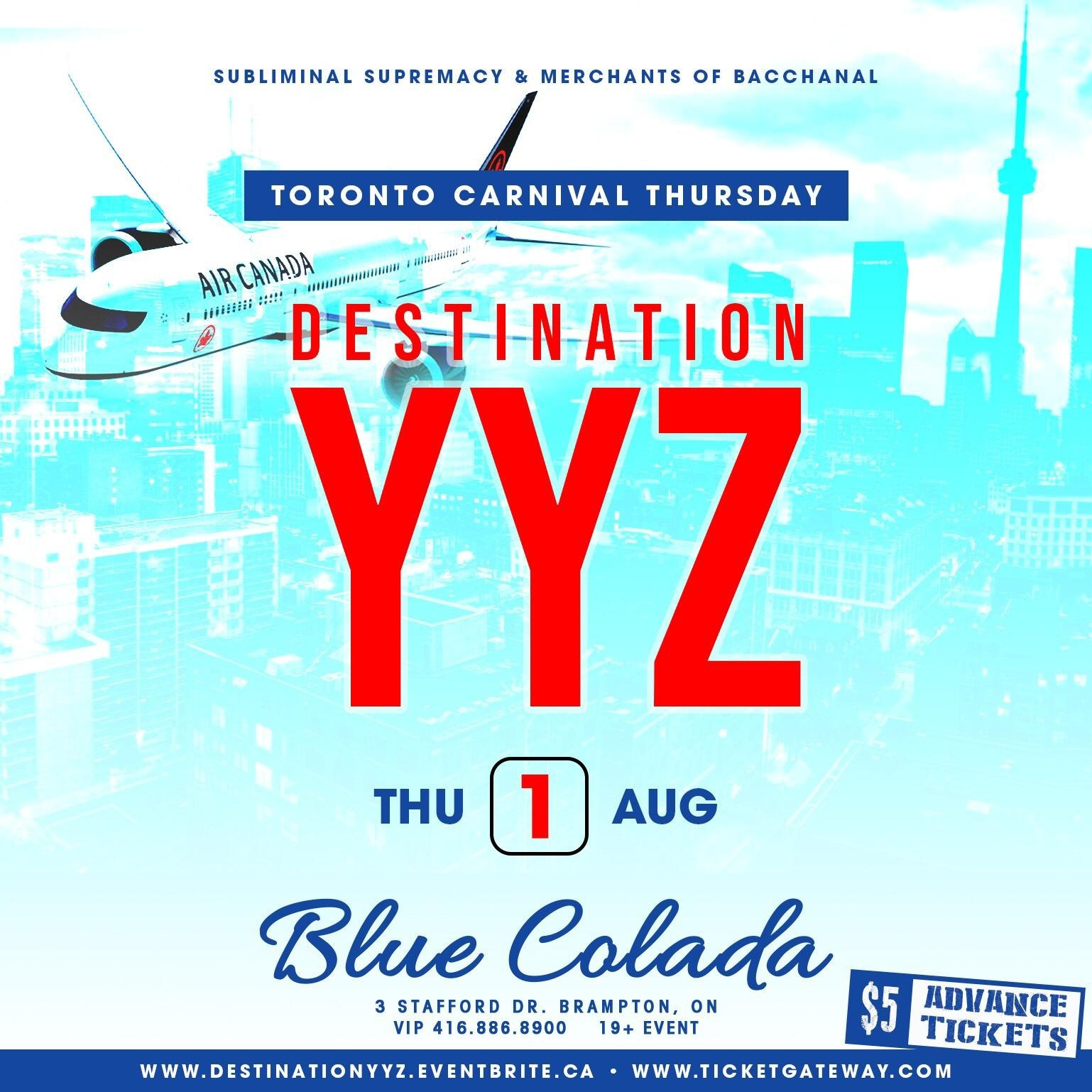 DESTINATION YYZ