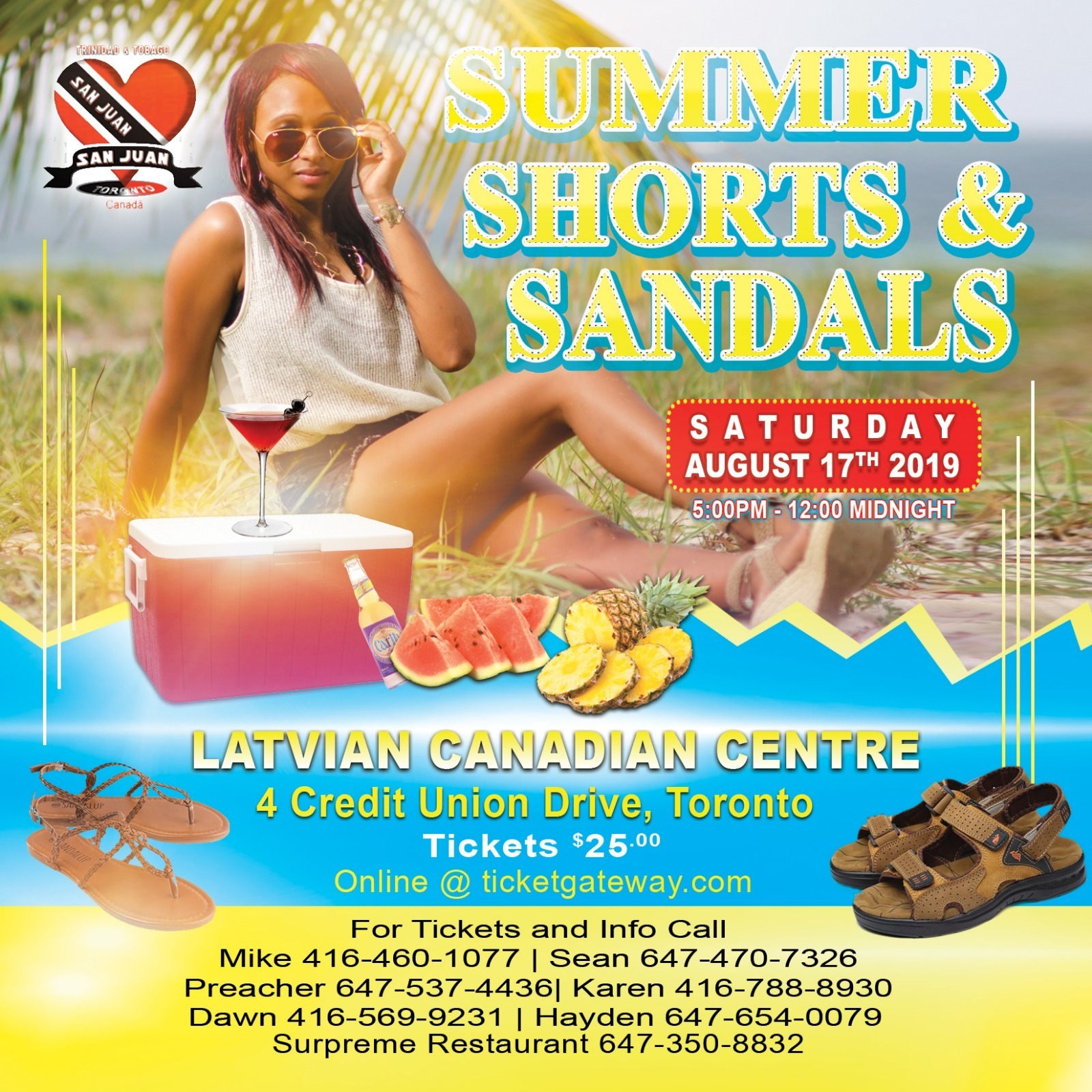 SUMMER  SHORTS & SANDALS