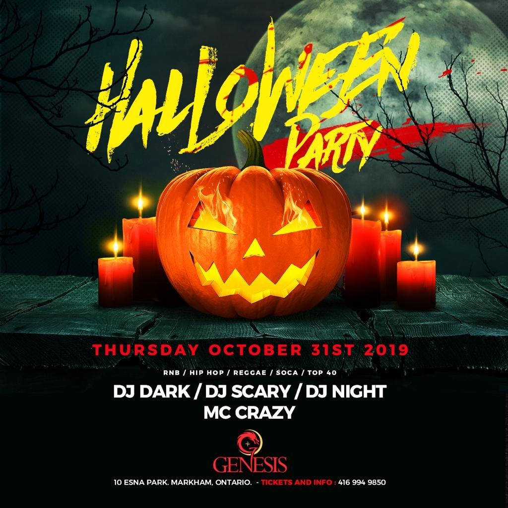 Halloween Utrecht 31 Oktober.Halloween Party Markham 2019 Tickets Oct 31 Genesis