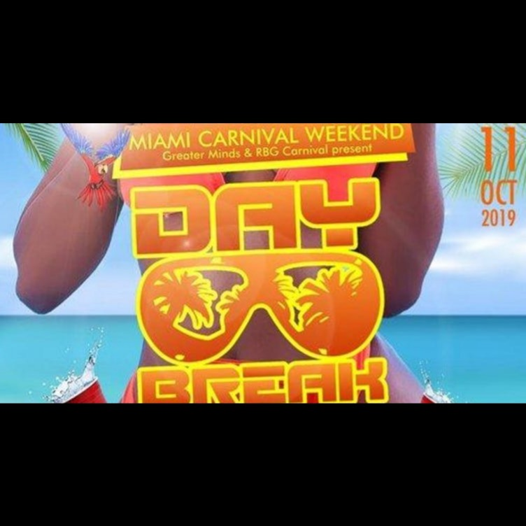 Miami Carnival DayBreak Miami Cooler Fete Edition 2019 | Tickets Fri 11 Oct