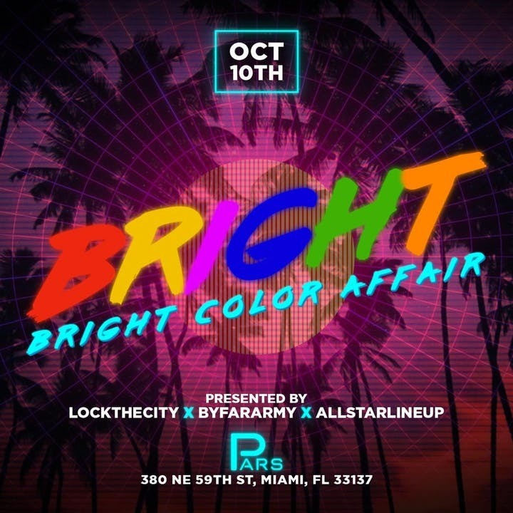 Bright Color Affair Miami Carnival 2019 |  Tickets 10 Oct