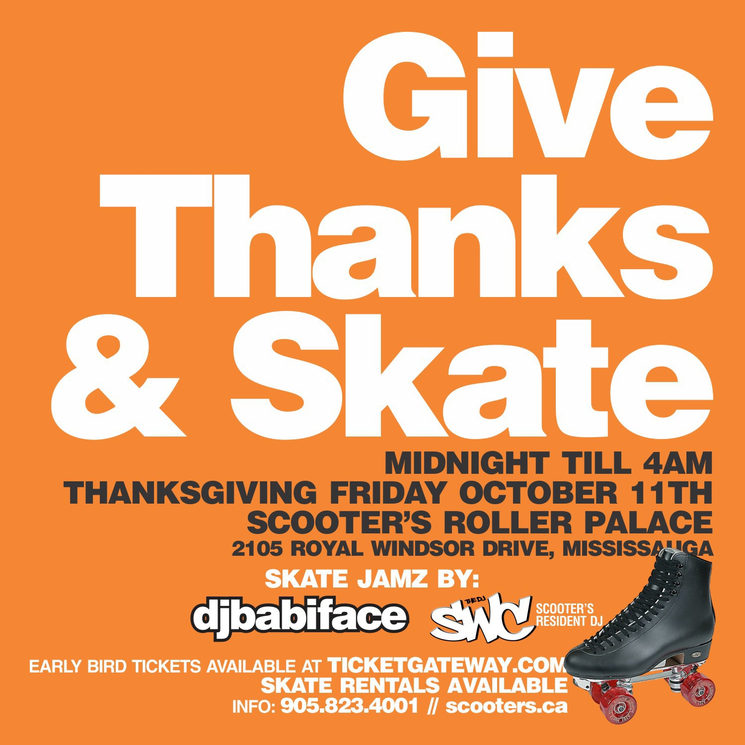 GIVE THANKS AND SKATE THANKSGIVING FRIDAY