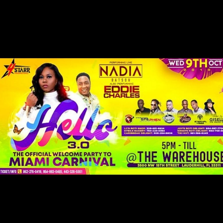 Hello 3.0 The Miami Carnival Edition 2019 | Tickets Wed Oct 9