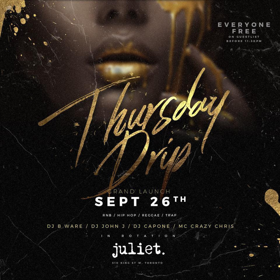GRAND LAUNCH NEW THURSDAY NIGHT @ JULIET