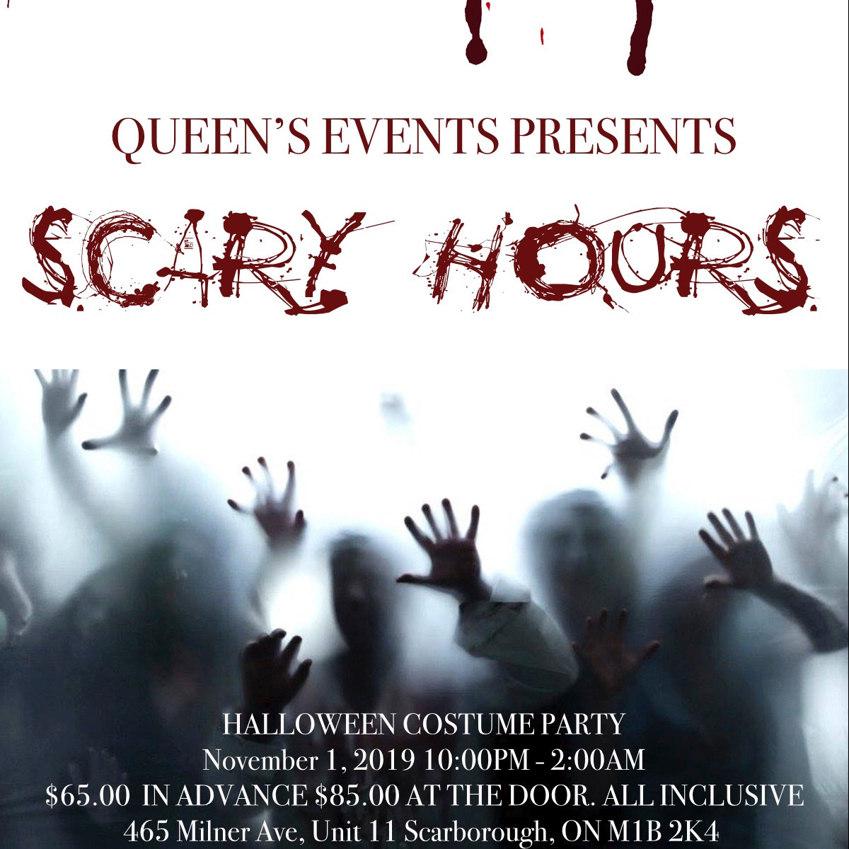 Queen's Events Presents Scary Hours