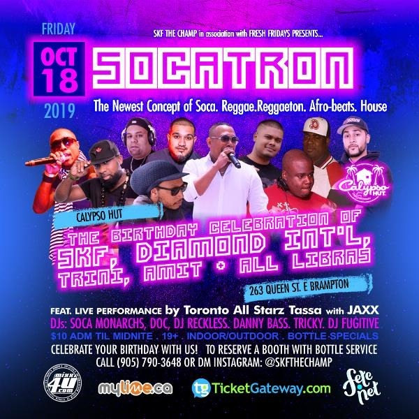 Fresh Fridays Presents Socatron  2019