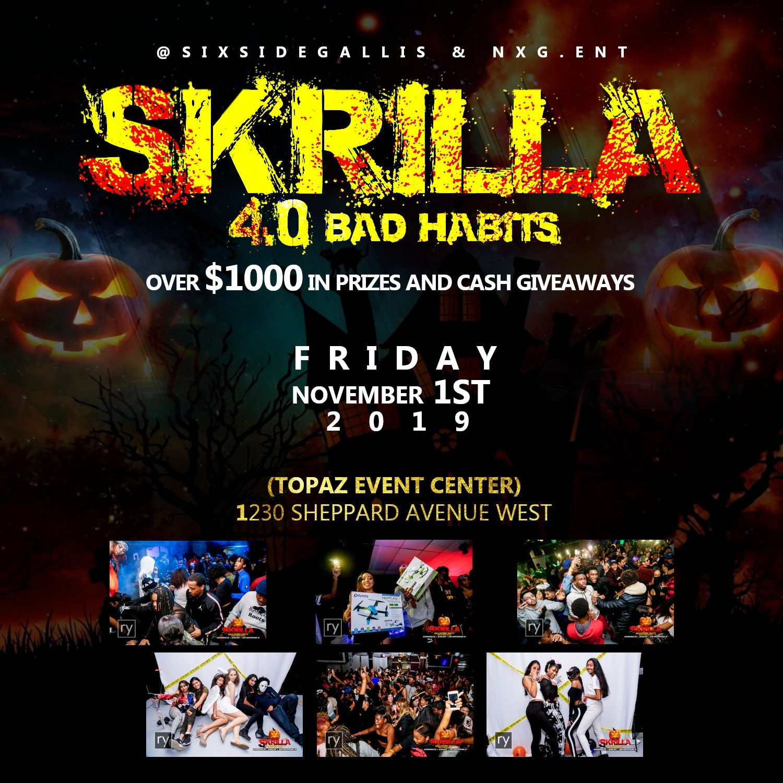 SKRILLA HALLOWEEN PARTY 2019