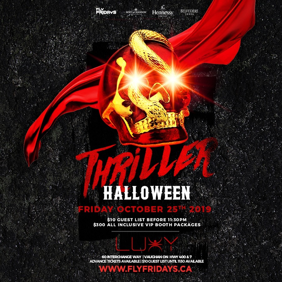 THRILLER - Halloween Friday Inside Luxy Nightclub