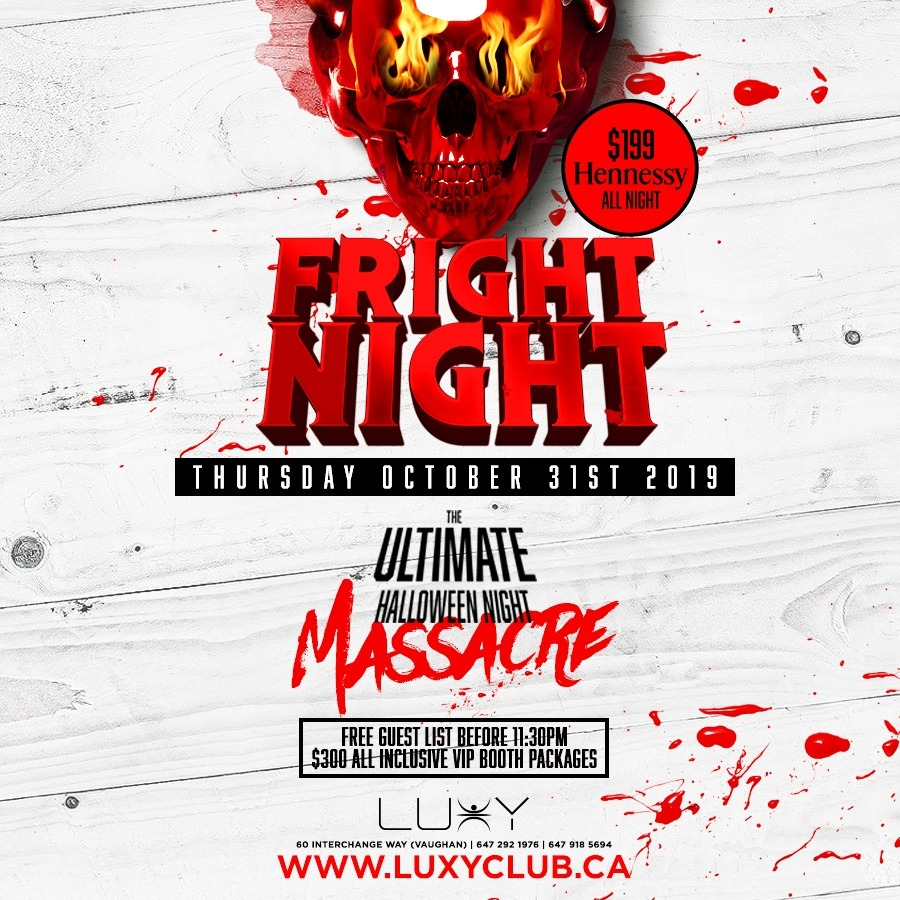FRIGHT NIGHT - Halloween Night Inside Luxy Nightclub