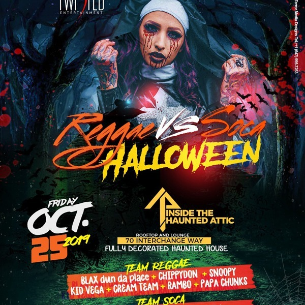 Reggae VS Soca 'Halloween' | Oct 25th 2019 | Halloween Friday
