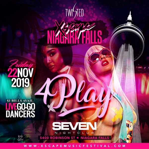 4Play | #XscapeMusicFestival| | Mints Adult Club - Niagara Falls | Nov 22nd