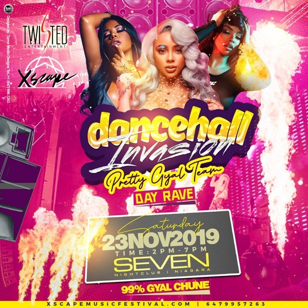 Dancehall Invasion 'Pretty Gyal Team' Day Rave | #xscapemusicfest | Nov23rd