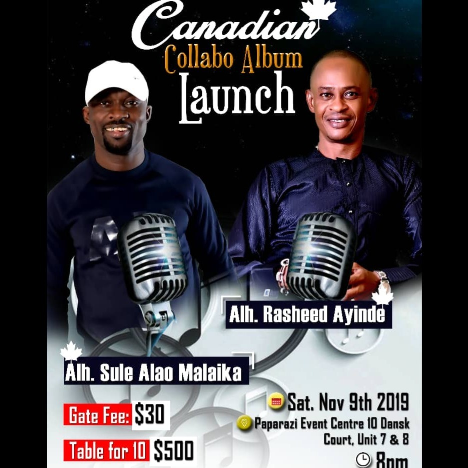 CANADIAN COLLABO ALBUM LAUNCH