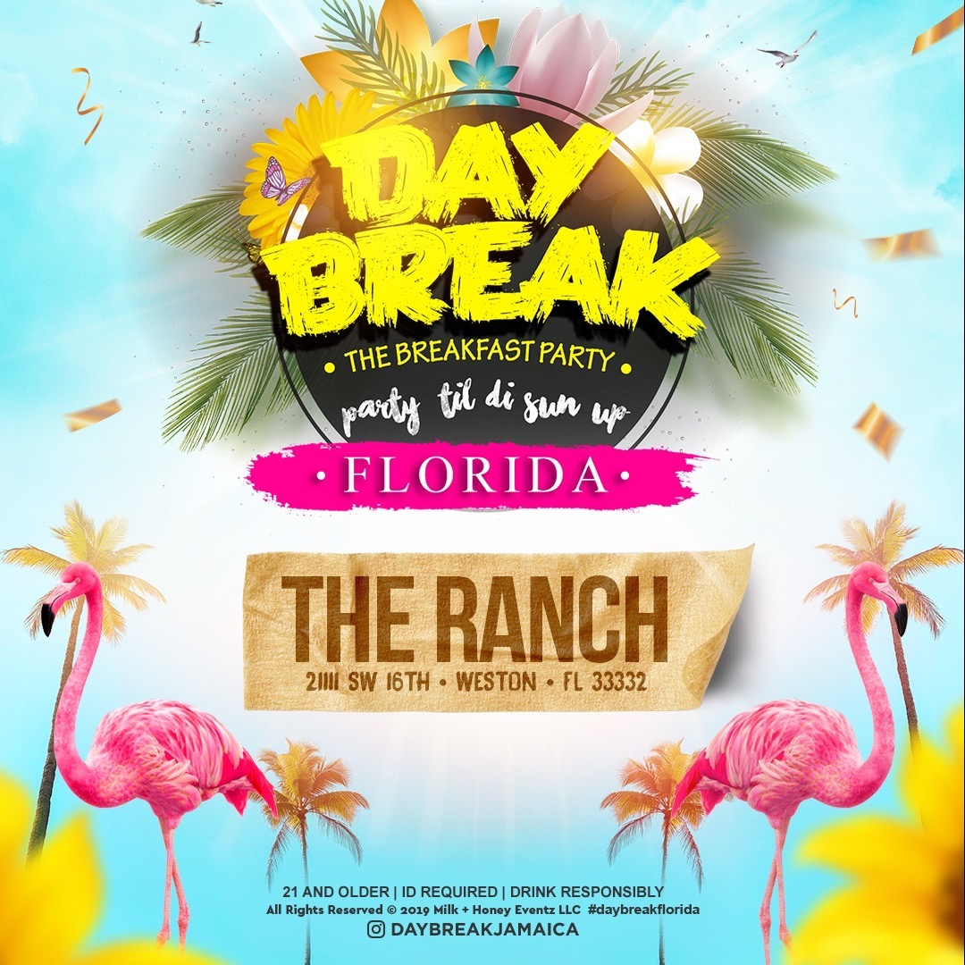 DAYBREAK Breakfast Party Florida Miami Carnival