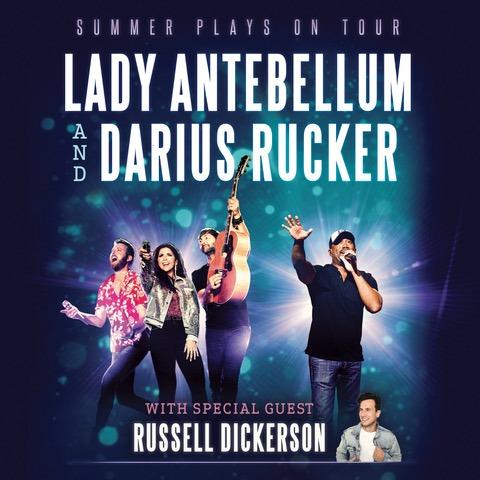 Lady Antebellum, Darius Rucker & Russell Dickerson Tickets 2018 | Budweiser
