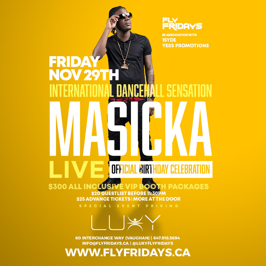 MASICKA Live & Birthday Celebration