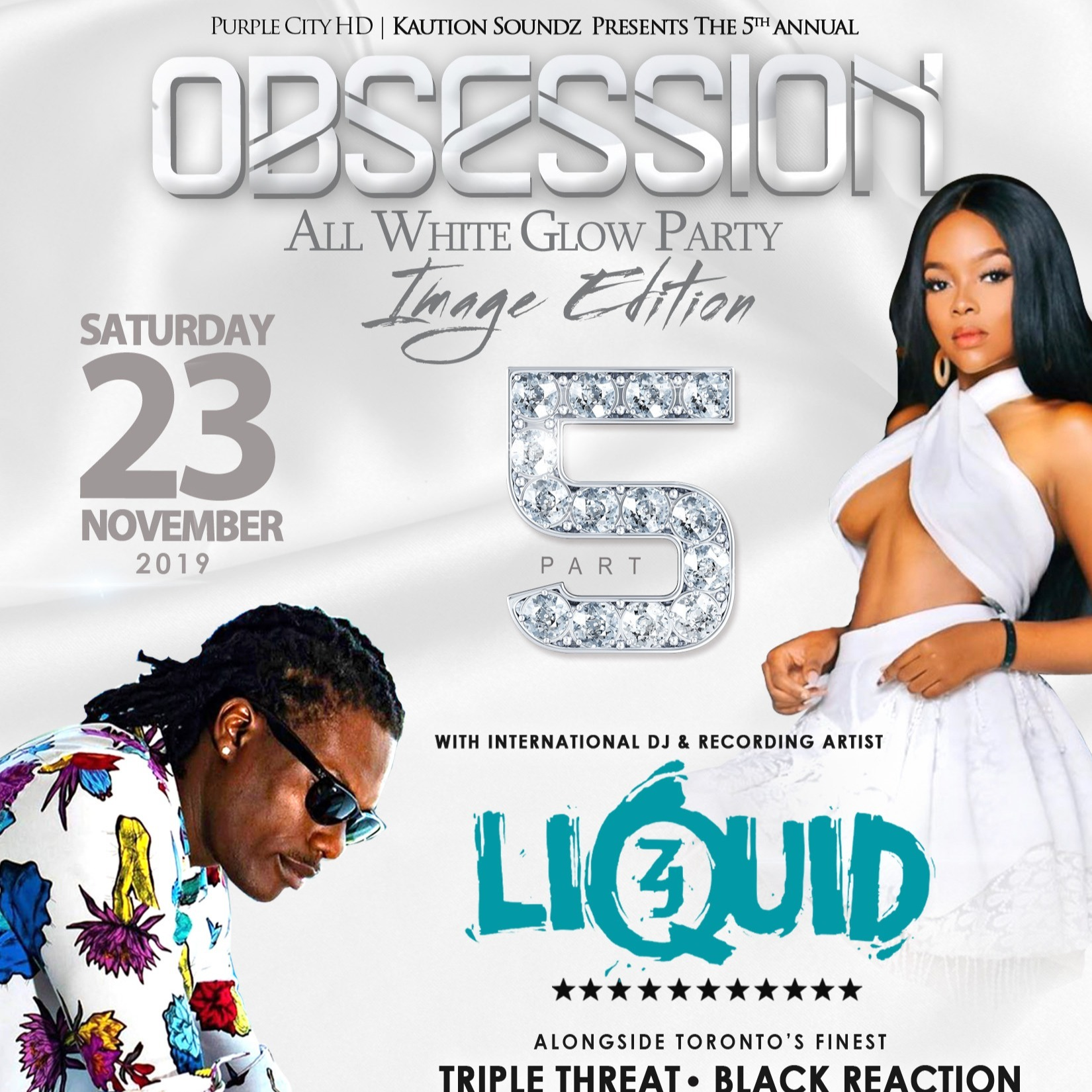 Obsession - All White Glow Party | Image Edition