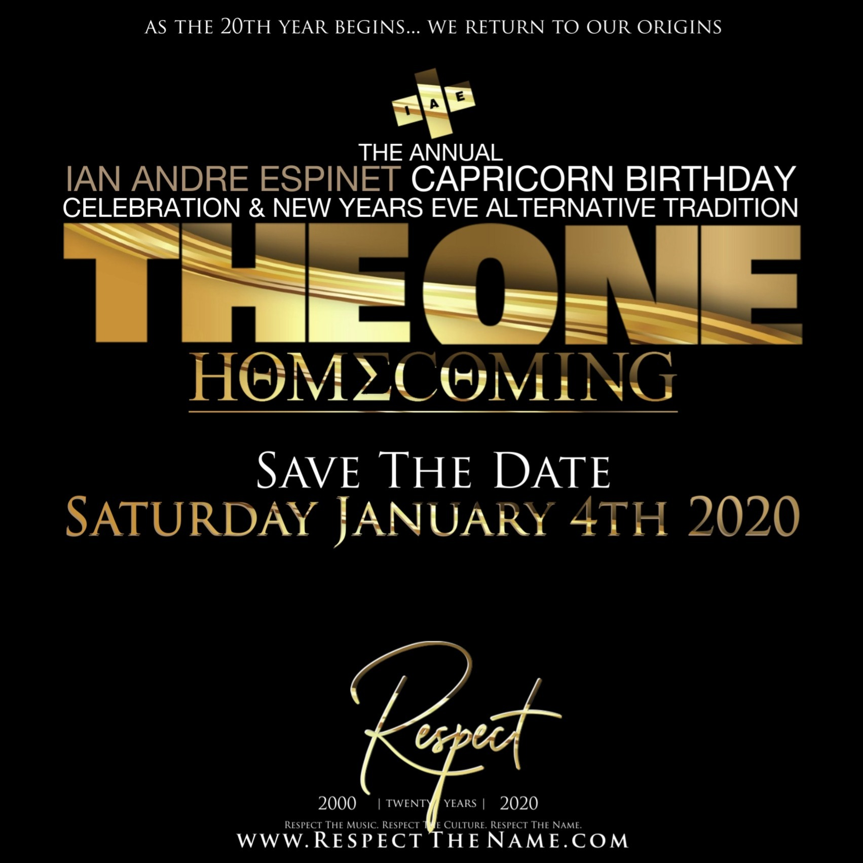 THE ONE | TWENTY - The Annual Capricorn Celebration x New Years Alternative