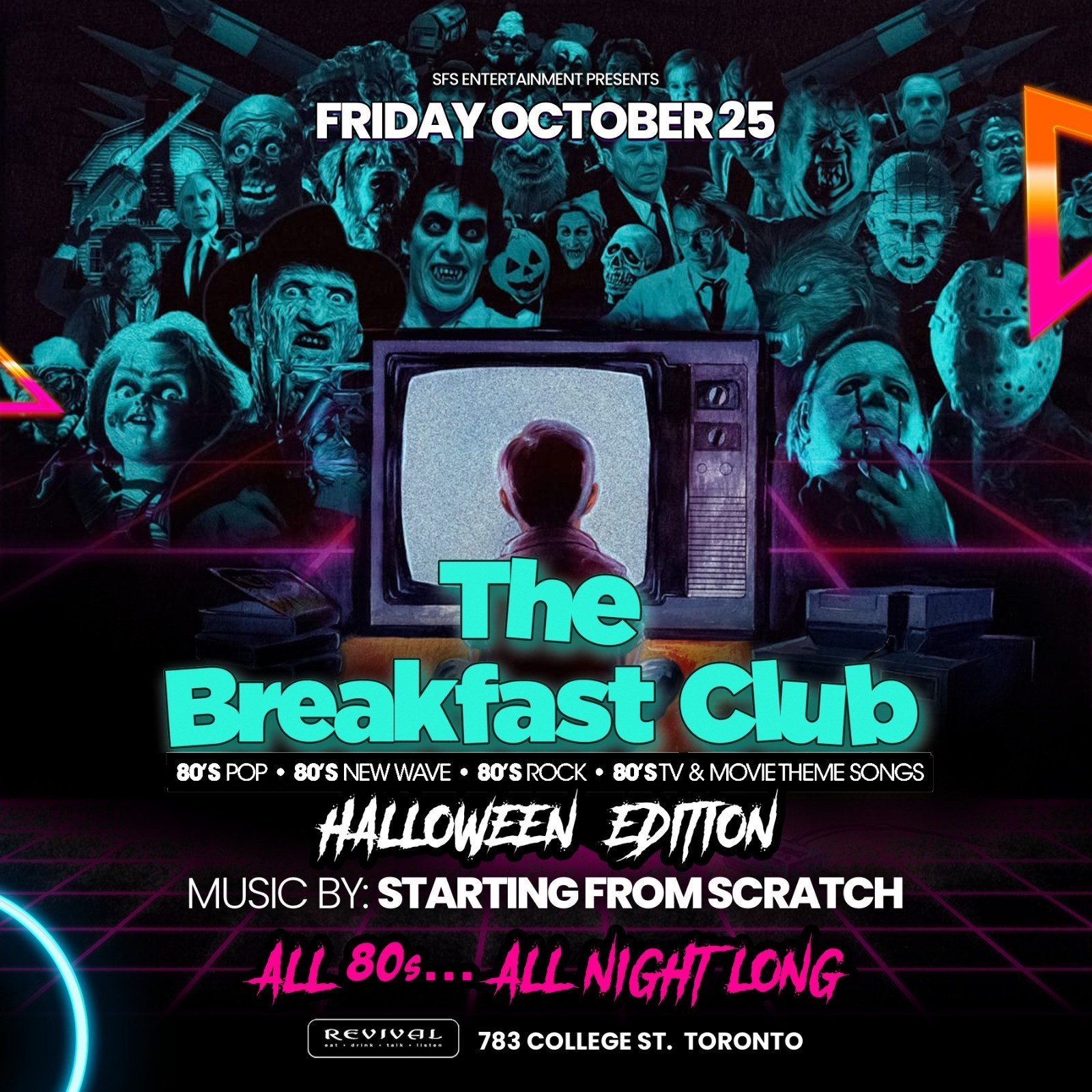 The Breakfast Club - Halloween 2019  80s TRIBUTE PARTY