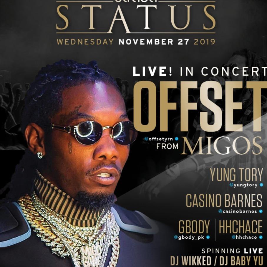 50% off Offset from Migos Live!  Strada Status