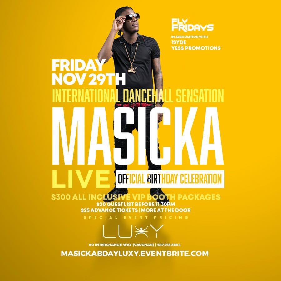 Masicka Bday Club Luxy
