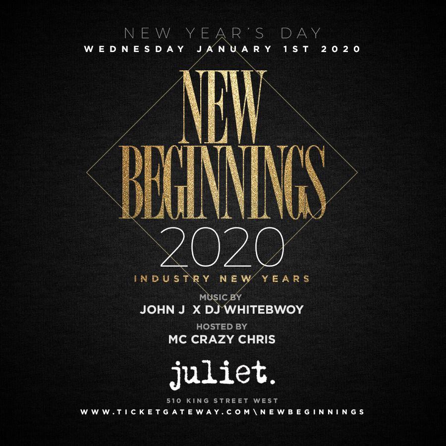 NEW BEGINNINGS 2020 @JULIET