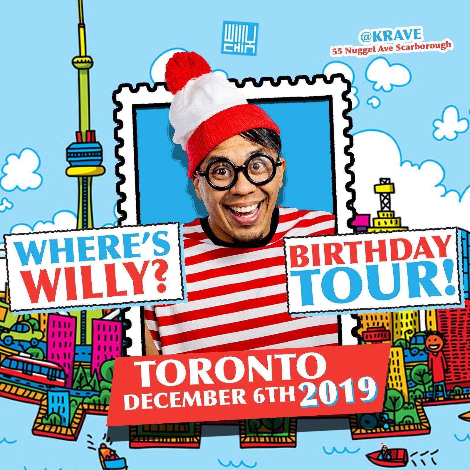Where's Willy - Birthday Tour