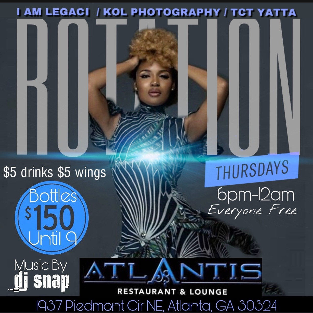 ROTATION THURSDAYS After-Work at ATLANTIS Everyone FREE with RSVP