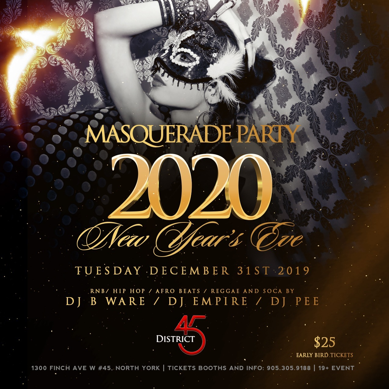 MASQUERADE PARTY 2020 New Year's Eve
