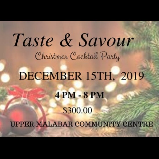 Taste & Savour Christmas Cocktail Party