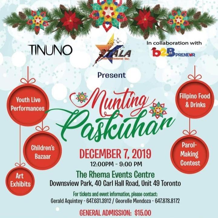 Tala Ent x B2B x Tinuno Presents: Munting Paskuhan