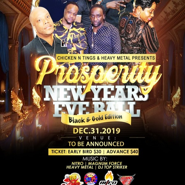 Prosperity - New Years Ball - Black And Gold Edition