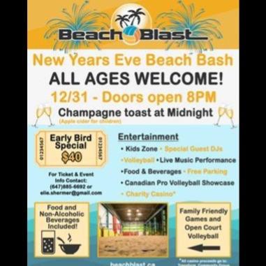 Beach  Blast New Year's Eve 2020
