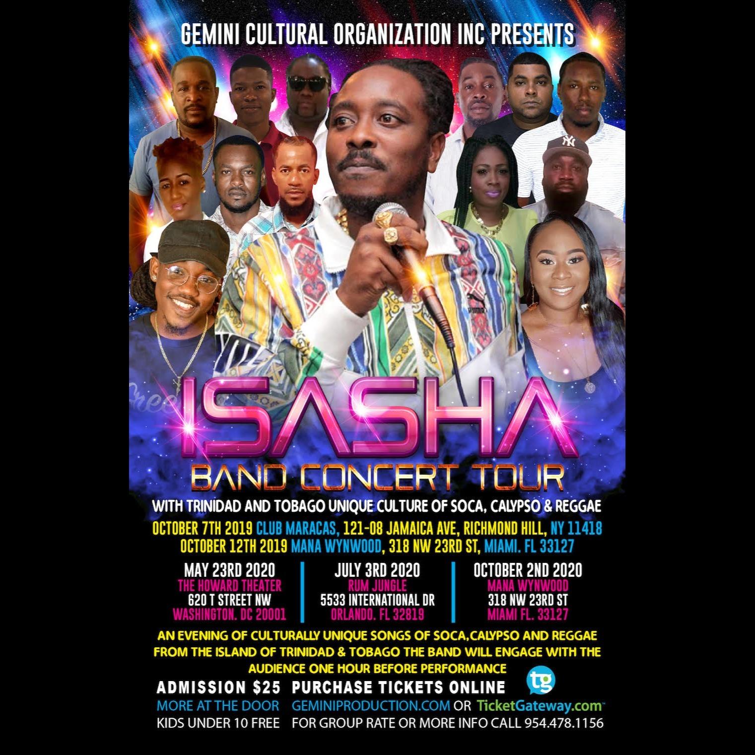 Isasha Band Concert Tour Orlando Fl 2020