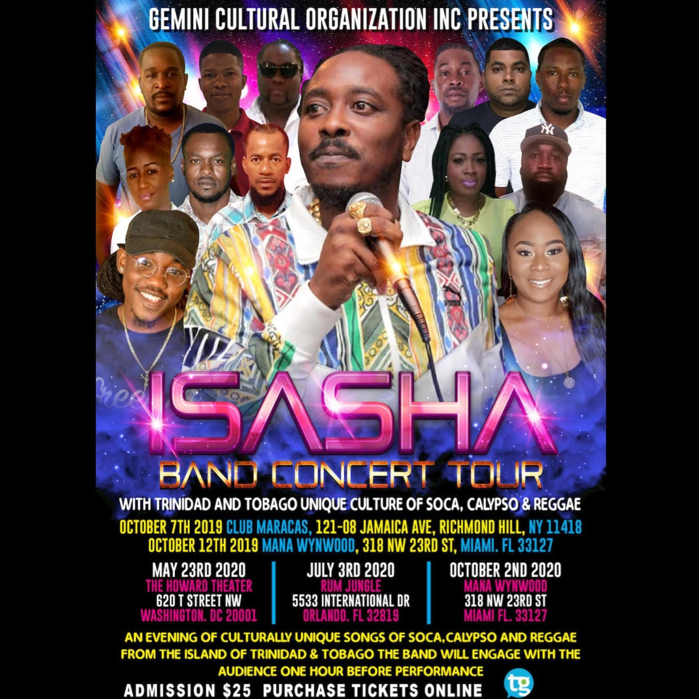 ISASHA Band Concert Tour Washington DC 2020
