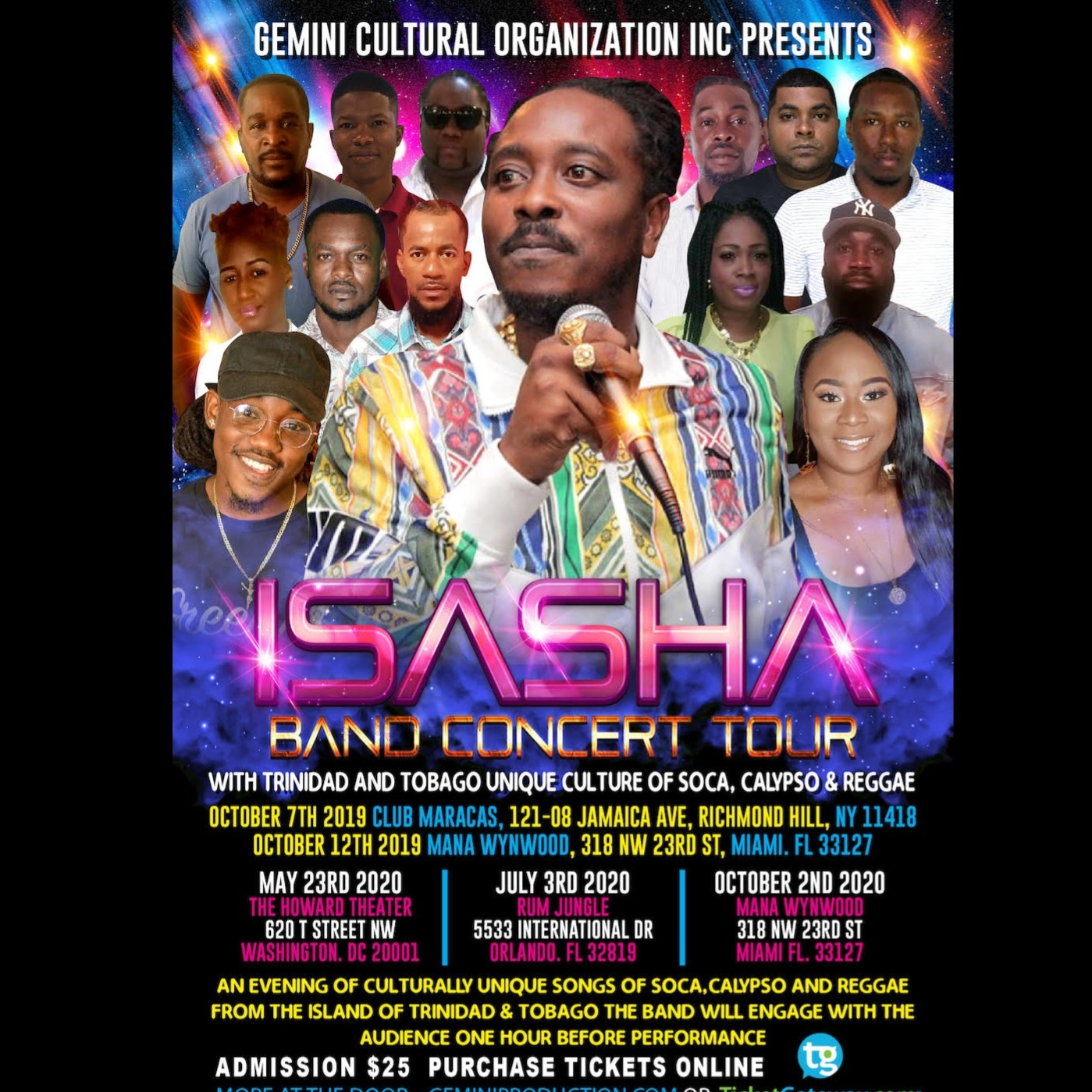 ISASHA BAND CONCERT MIAMI TOUR 2020