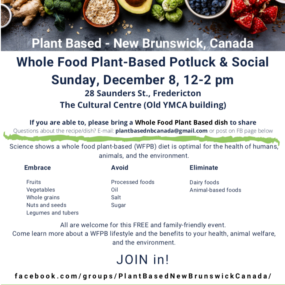 Whole Food Plant Based Potluck and Social