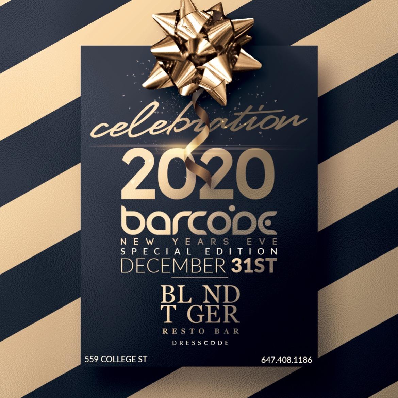 Barcode NYE 2020 Special Event inside BLND TGER Toronto