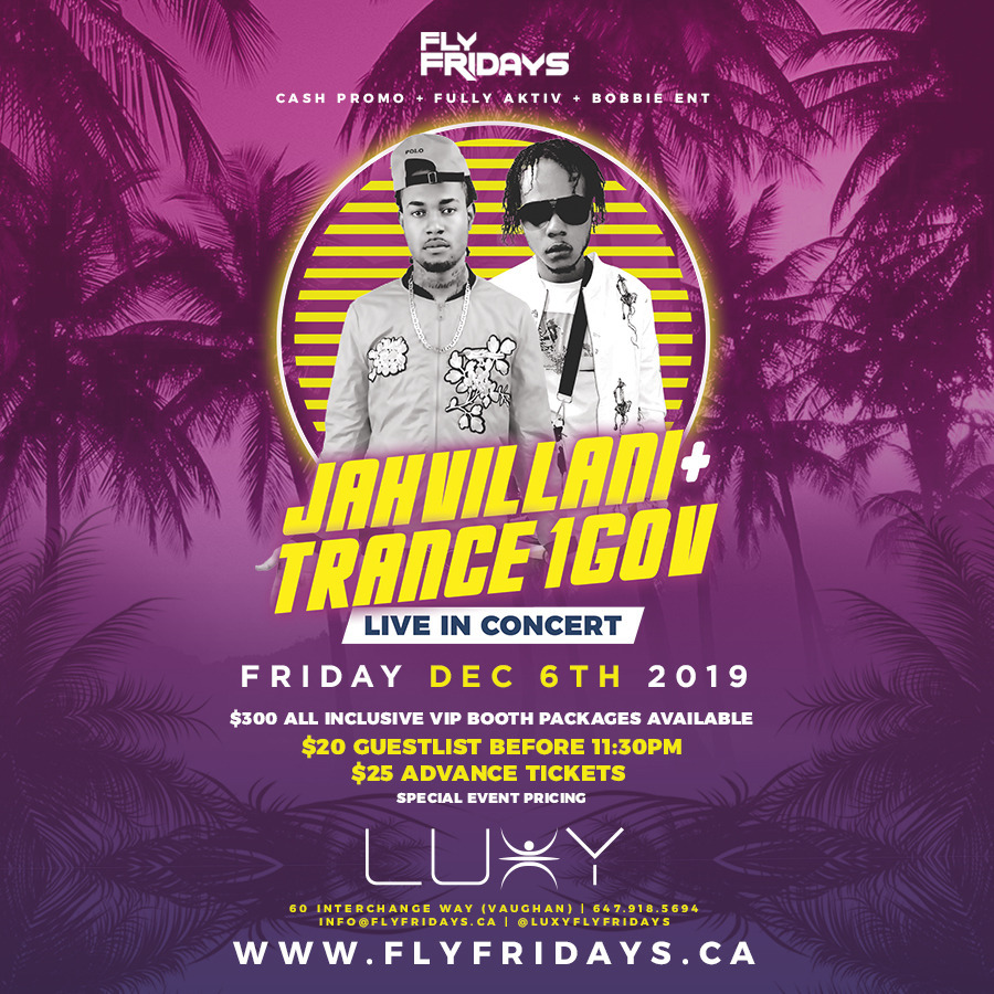Fly Fridays : JAHVILLANI LIVE