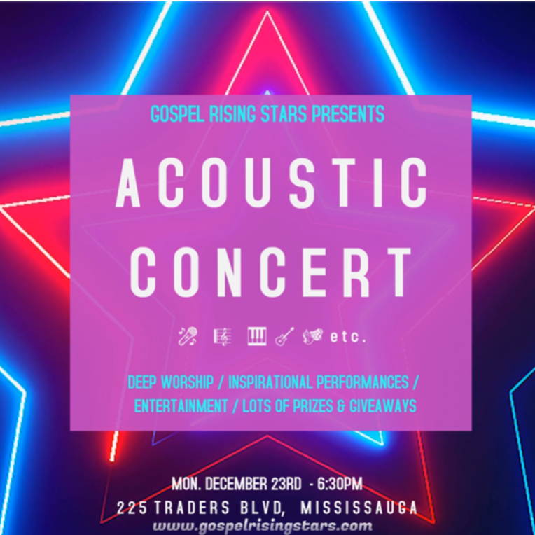 Acoustic Concert - Gospel Rising Stars