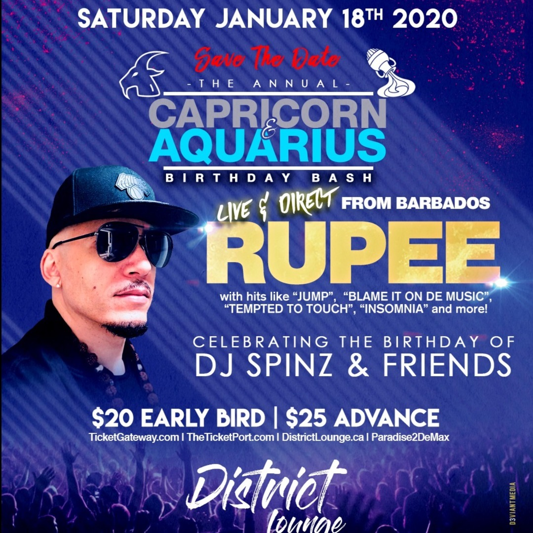 The Annual Capricorn And Aquarius Birthday Bash Rupee Live