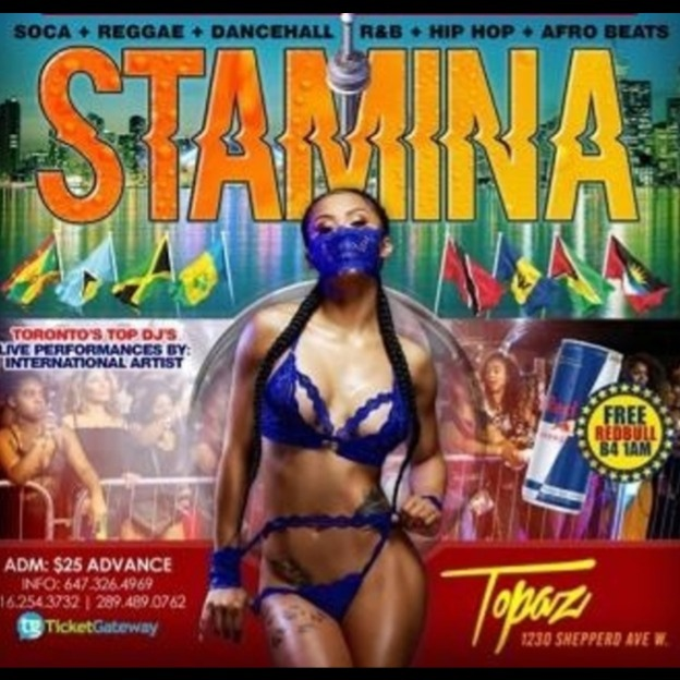 STAMINA - 2020 THE BIGGEST CARIBANA AFTER PARTY  IN THE 6IX