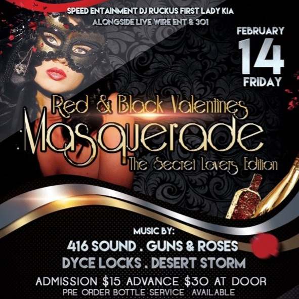 Masquerade - Red And Black Valentines - The Secret Lovers Edition