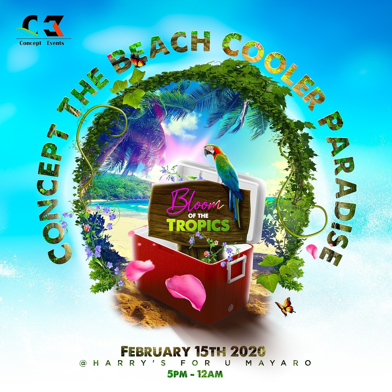 Concept The Beach Cooler Paradise 'Bloom Of The Tropics'