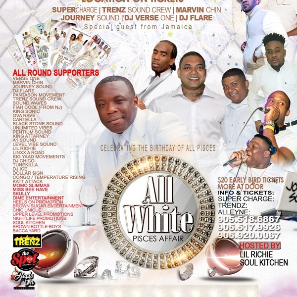 All White Pisces Affair - Hamilton's Biggest Annual Party