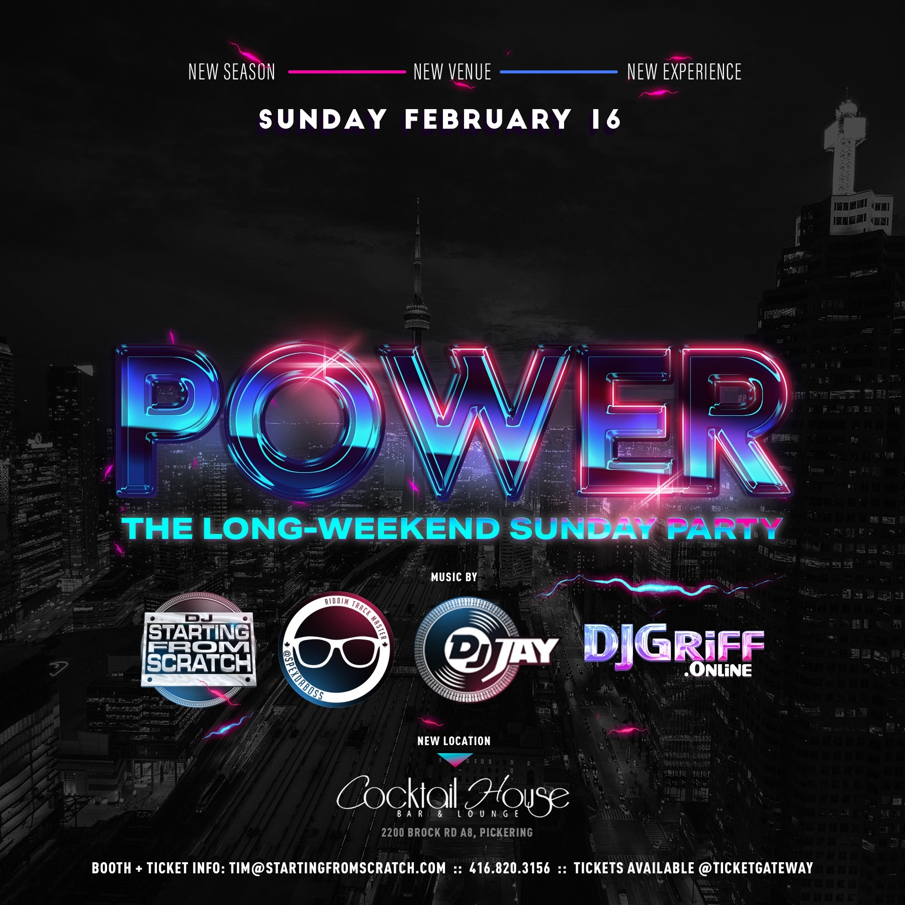 POWER - THE SUNDAY LONG WEEKEND PARTY (FEB 16th 2020